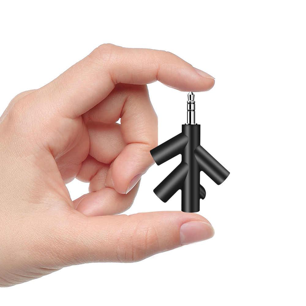 3.5mm podwójne gniazdo rozdzielacz audio w kształcie litery Y słuchawki męskie na 2 żeńskie zestaw słuchawkowy Stereo Adapter do iPhone samsung splitter do słuchawek