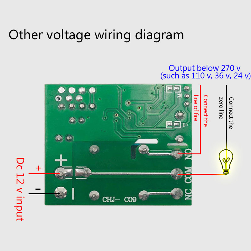 Universal Wireless Remote Control Switch DC 12V 1CH RF Relay Receiver 433 MHz Receiver Module for Light Switch in Remote Controls from Consumer Electronics