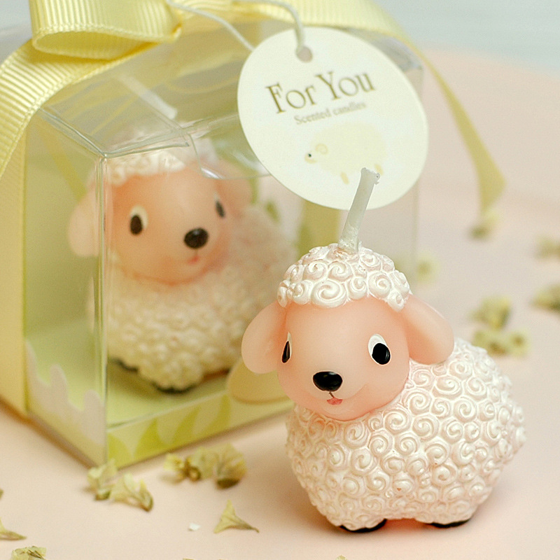 10 Scented Home Gift Ideas All Priced 10 And Under: Cute Little Sheep Hoggerel Smookless Candle Baby Shower