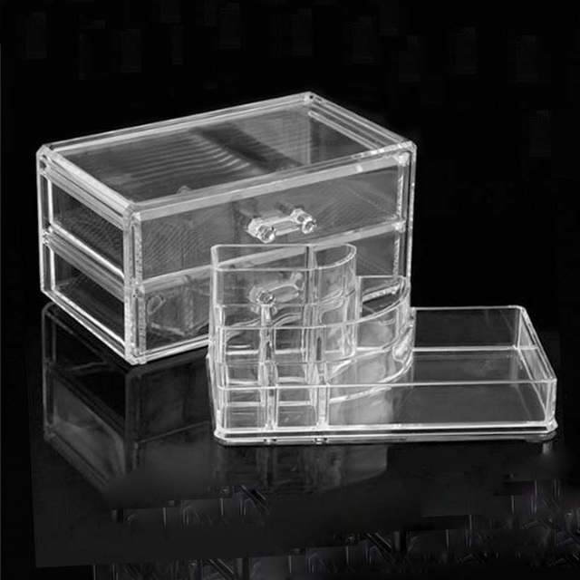 Clear Transparent Makeup organizer Acrylic Jewellery storage box lipstick holder rack cosmetic organzier makeup brush storage