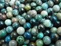 Frete Grátis natural Azurita 8mm liso rodada solta pérolas pedra atacado para design de jóias fazer