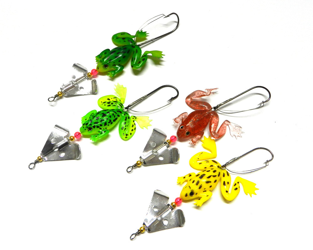 1pcs Maple Leaf Frog Fishing Bait 6 2g Frog Soft Bait Fish Sequin Sea Fishing Gear Free Shipping in Fishing Lures from Sports Entertainment