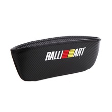 Embroidery for Ralliart emblem Car carbon fiber style seat crevice storage bag Mitsubishi Lancer 10 evo Asx accessories