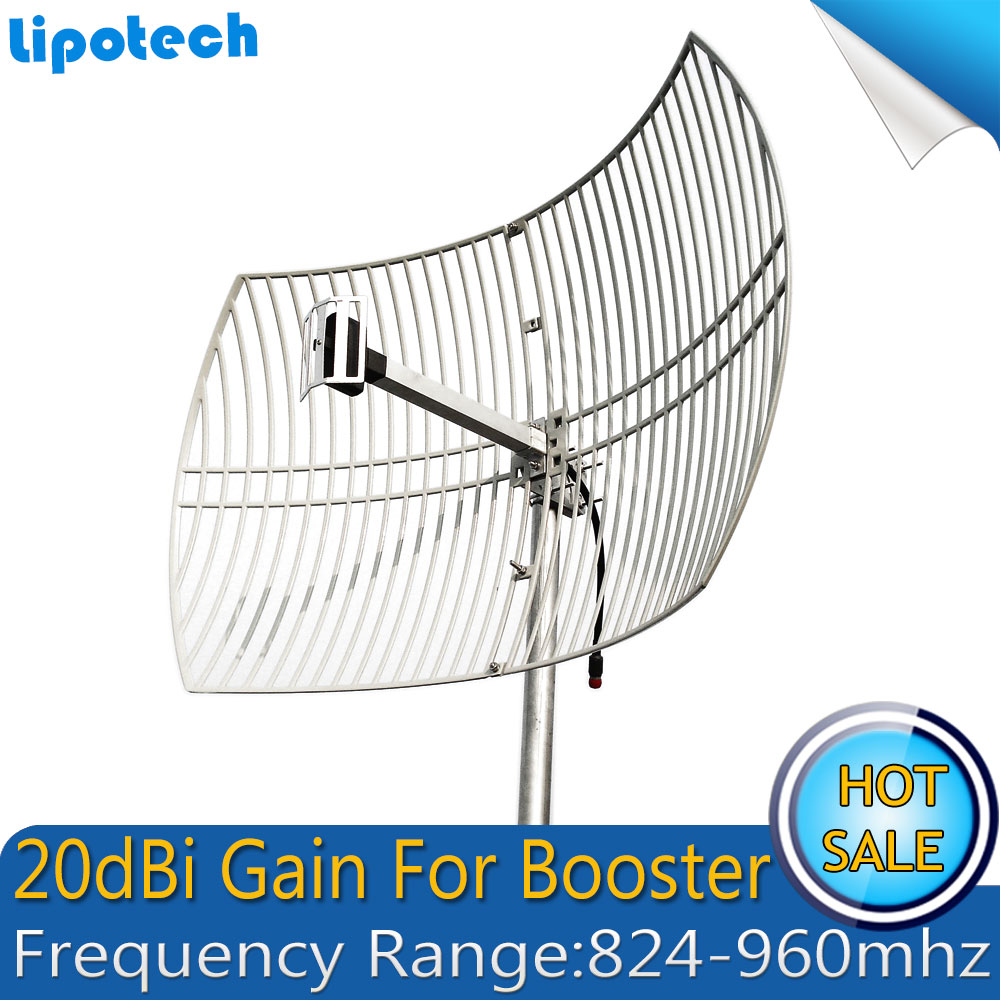 Antenne de grille 20dBi UMTS CDMA 850 mhz et GSM 900 mhz antenne externe de grande couverture antenne extérieure pour Booster de Signal de téléphone portable