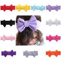 7 cali Noworodka Pałąk Akcesoria Do Włosów Turban Elastyczność Solid Color Big Bow Noworodków Hairband Najlepiej Sprzedających