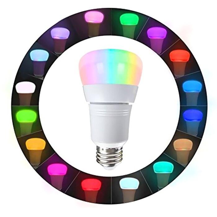 Colorful 8W Wireless RGBW Smart Bulb Works With Amazon Alexa / APP Control / Google Home