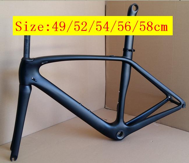 Your Brand Logo T1000 carbon fiber road bike bicycle frame 49cm 52cm  54cm  56cm 58cm with EMS DPS express shipping without duty|bicycle frame|carbon fiber road|carbon fiber road bike - title=