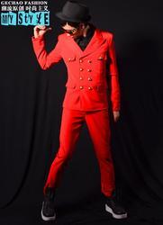 Мужские костюмы, дизайнерские мужские костюмы для сцены, костюмы для певцов, Мужской Блейзер, танцевальная двубортная одежда, куртка, стиль...