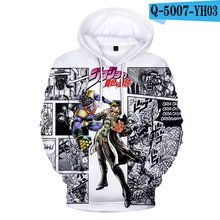 Jojo Hoodie Long Sleeve Moletom Winter Print Hoodie Hooded 3D Hoodies Men Hoodies 2019 Anime Hoodie Pullover Harajuku Kpop Hoody hooded stripe print long sleeve hoodie