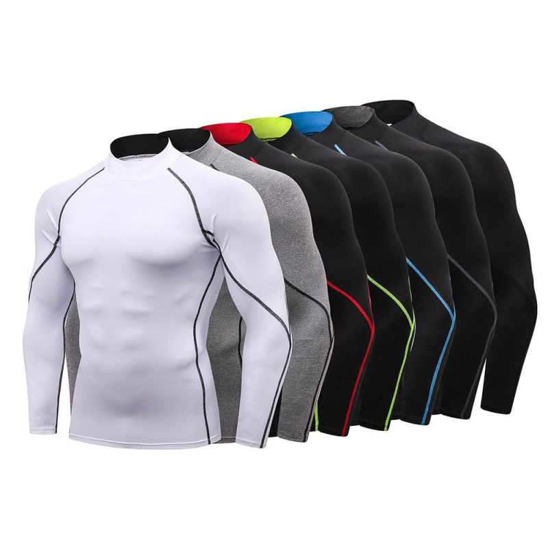 Quick-drying Running T-Shirt Long Sleeve Training Compression Exercise Sports American football sweatshirt image
