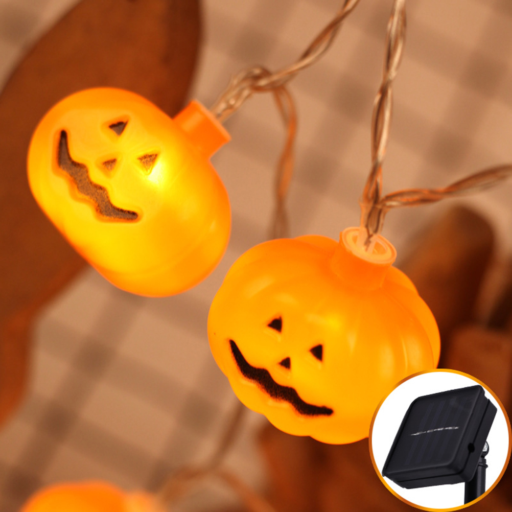 Halloween Decoration Pumpkin String Lights Lights With 20 LED Beads Bar Party