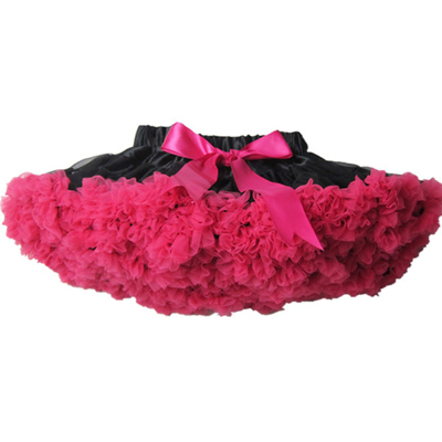 Горячая распродажа пушистая шифоновая пачка для маленькой девочки юбки для девочек юбка принцессы пачка от 2 до 10 лет - Цвет: black with hot pink