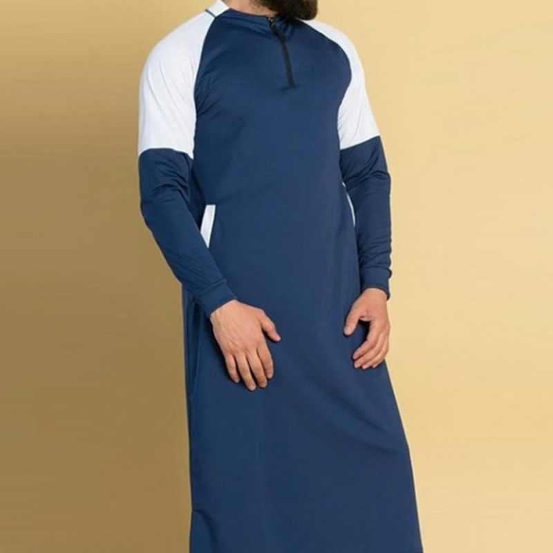 MJARTORIA 男性アバヤイスラム教徒衣類ドバイイスラム Jubba トーブローブカフタン伝統的な衣服ロングスリーブソリッドオムドレス