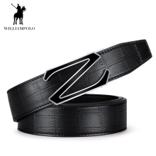 Williampolo 2019 Luxury Brand Genuine Leather Belts Male Vintage Business Fashion Belt New Arrival PL18207-08P