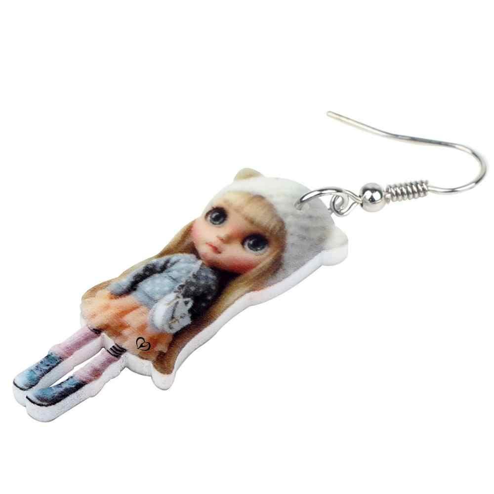 Bonsny Acrylic สีบลอนด์ตุ๊กตารัสเซียต่างหูตุ้มหูน่ารักแฟชั่นเครื่องประดับน่ารักสำหรับวัยรุ่นหญิงของขวัญอุปกรณ์เสริม