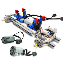 Technic Car chassis set Parts Electric Power Functions Medium Motor + Servo Building Blocks Compatible with 99498 58120
