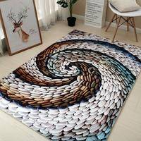 Nordic abstract Art Super Soft Flannel Carpet for Living room Tea Mat bedroom Carpet play mat Non slip rug blanket