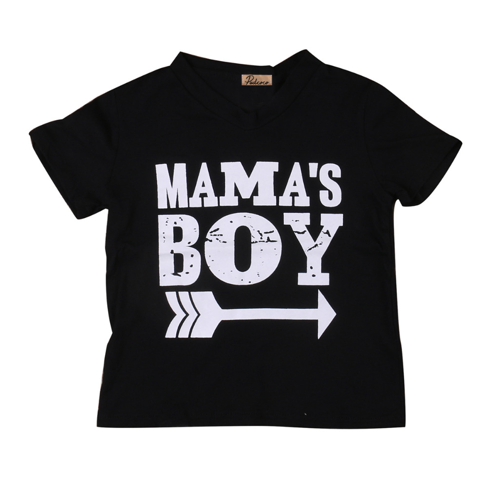 Kids Mama Baby Boy Clothes Printed Tops Baby Boys Children