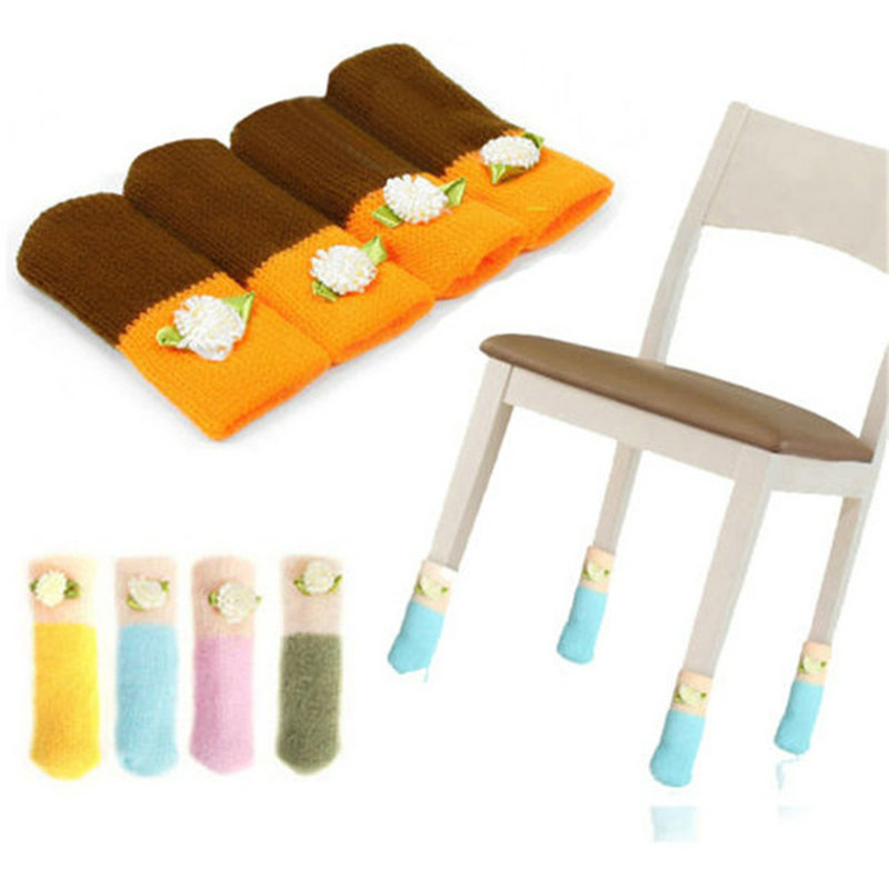4pcs Cat Style Chair Leg Socks Home Furniture Leg Floor Protectors Knit Flower Leg Sleeve Table Chair Foot Cover Sock 20184pcs Cat Style Chair Leg Socks Home Furniture Leg Floor Protectors Knit Flower Leg Sleeve Table Chair Foot Cover Sock 2018