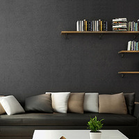 HaokHome Modern Solid Color Non Woven Wallpaper Black Modern Silk Wallcovering Simple Wall Paper for Livingroom Bedroom Decor