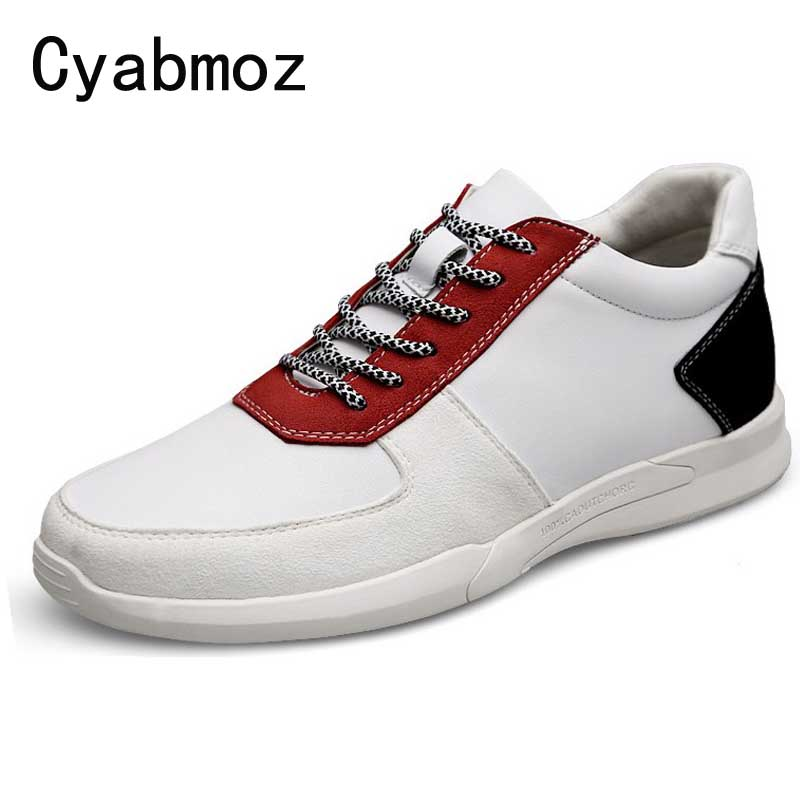 Talon Dentelle Black Casual red Hauteur Cyabmoz Cm Hommes Marque Avec 5 Hombre Ascenseur Cm Chaussures Caché Zapatos White Sneakers Augmenter Mode 7 up Cm black 0y8nvNmwO