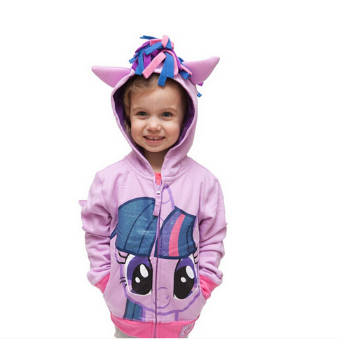 2016 My Cute little Girl ponys Kids Cartoon Jacket Children Jaqueta Outerwear & Coats Meninas Jackets for spring and autumn