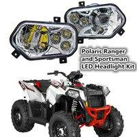 2 X Polaris Ranger и спортсмен светодиодные фары комплект ATV UTV свет Интимные аксессуары проектор фара для Polaris Ranger сбоку x по бокам