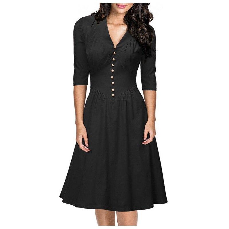 Vintage 40 S Style Wedding Dresses: Audrey Hepburn Style Vintage V Neck 2016 40s 50s 60s