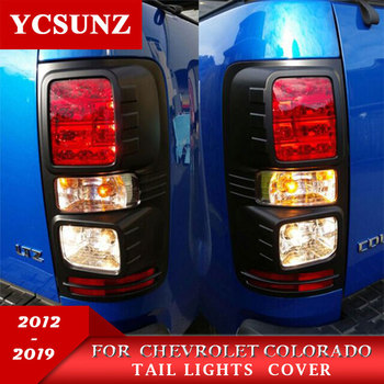 Black Tail Lights Trim ABS Black Rear Light Covers For Chevrolet Colorado Holden Chevy Colorado 2012-2019 2020