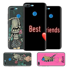 Black Bag Soft Silicone Case Cover for Huawei honor 8X 8C 8A 10 20 Y6 Y9 2019 Lite Play Enjoy 9S 9E 20i Phone Fall Best Friends(China)