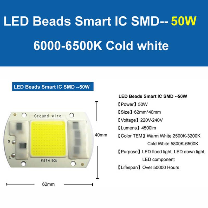 YOYOLUO LED Lampe Chip 220V 5W 15W 20W 30W 50W Cold White Warm Weiß led COB Smart IC Fahrer Fit Für DIY Led-strahler Flutlicht