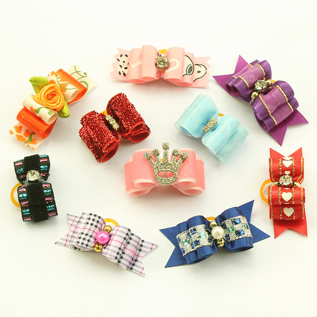 dreambows Crown Mix Pack Handmade Puppy Dogs Show Hair Bows For Dog Bow 6011001 Pet Yorkie Grooming Gift Products 20Pcs