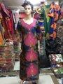 (Envío libre) La nueva moda 2015 Mujeres se visten vestido de la señora Africana Exquisito bordado BAZIN Africano tradicional materia