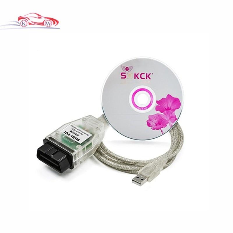 Latest MINI VCI for Toyota TIS Techstream V10.00.028 Single Cable MINI VCI for Toyota J2534 Diagnostic Tool