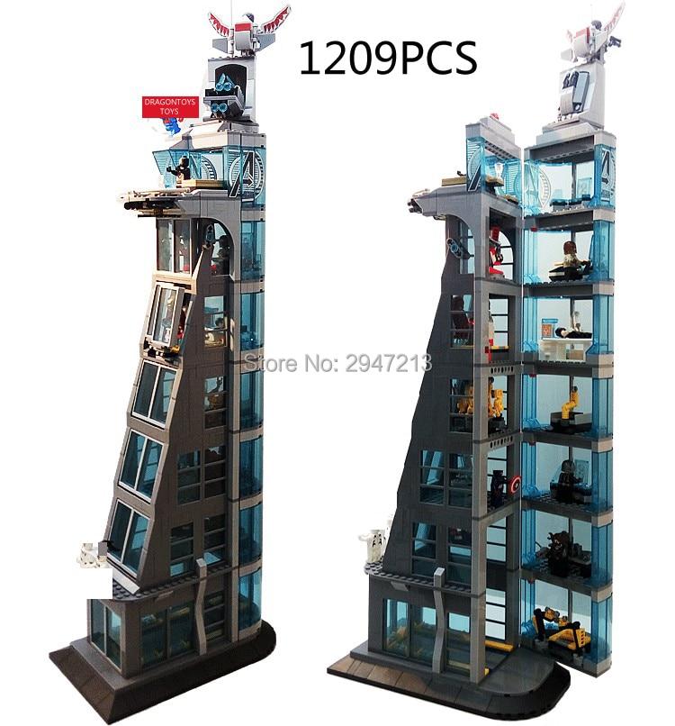 Compatibile LegoINGlys Marvel Super Hero Vendicatori torretta moc Building blocks mini Capitan America Spider Man figures mattoni giocattoli