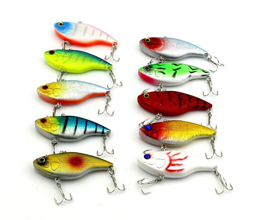 7.5cm 18g 6#hooks game VIB fishing lure artificial bass pike peche fishing hard baits isca de pesca fishing tackles