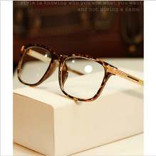 Retro Leopard Box No Prescription radiation glasses female fashion models decorated 04 male myopia glasses frames