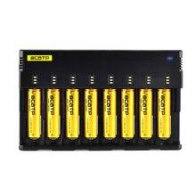 BCATP H8 18650 Cargador de Batería de 1.2 V 3.7 V 3.2 V 3.85 V AA/AAA 26650 10440 14500 16340 25500 NiMH batería de litio cargador inteligente