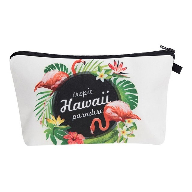 New Fashion Printing Women Flowers Travel Makeup Case Cosmetic Bags Travel Ladies Pouch Women Organizer Bag