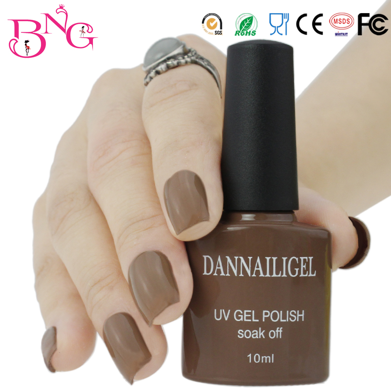Beautygaga Gel #39 Dannail Dark Brown Color 10ml Long Lasting Soak Off UV Gel Nail Art Polish UV Manicure Cosmetic Blink Gel