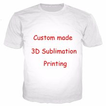 841162b8b Newest Create Your Own Customer Design Anime/Photo/Star/You Want/Singer  Pattern/DIY T-Shirt 3D Print Sublimation T Shirt