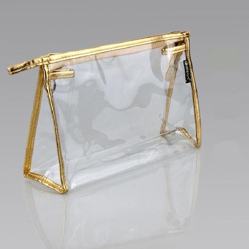 Waterproof Pvc Makeup Cosmetics Bag Clear Transparent