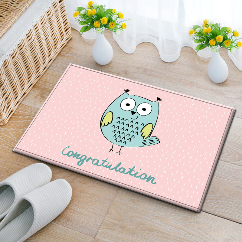 Multi-function cartoon owl ground mat for kitchen, door mat ,cute kids carpet ,decoration ground mat for childrenroom