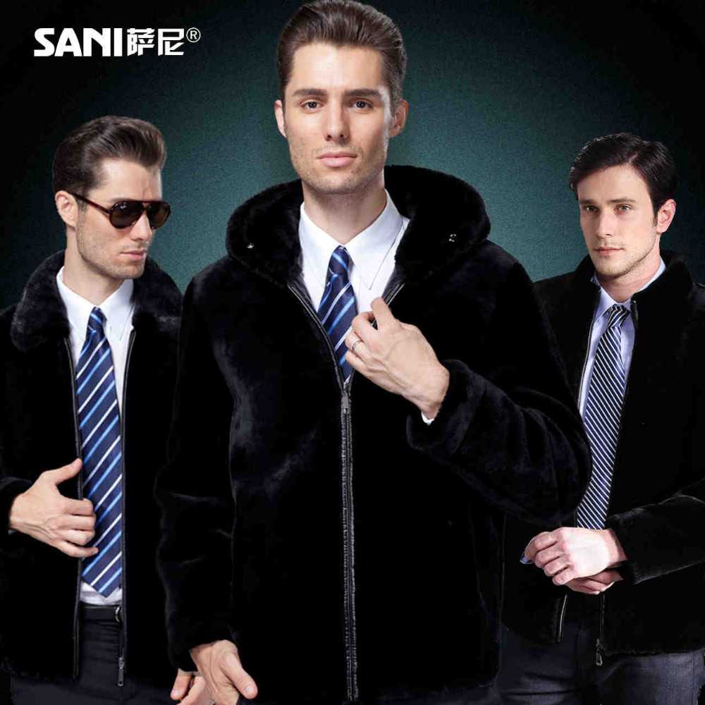 Court En Gratuite model Fourrure Mâle Vison Collar 3 Véritable Vêtements Stand Peau Model 1 Hooded Livraison Cuir Hommes Conception model Veste Manteau 2 Mouton Luxe Mink Collar De Y7f6bgy