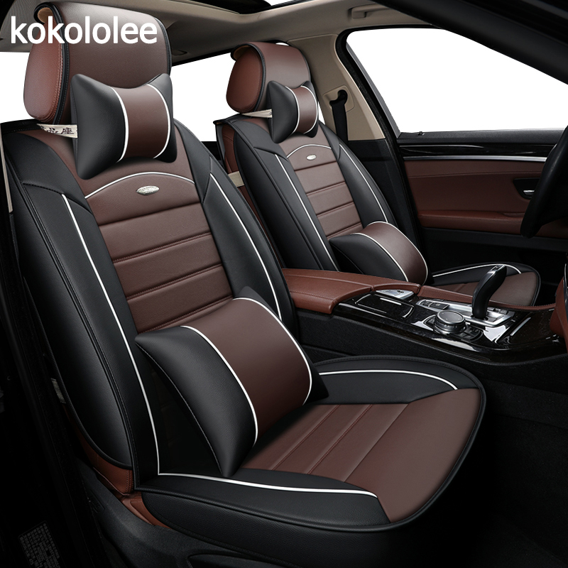 [Kokololee] cuoio dell'unità di elaborazione di copertura di sede dell'automobile per peugeot 607 pajero sport bmw e90 citroen xsara picasso jaguar xf per skoda auto-styling