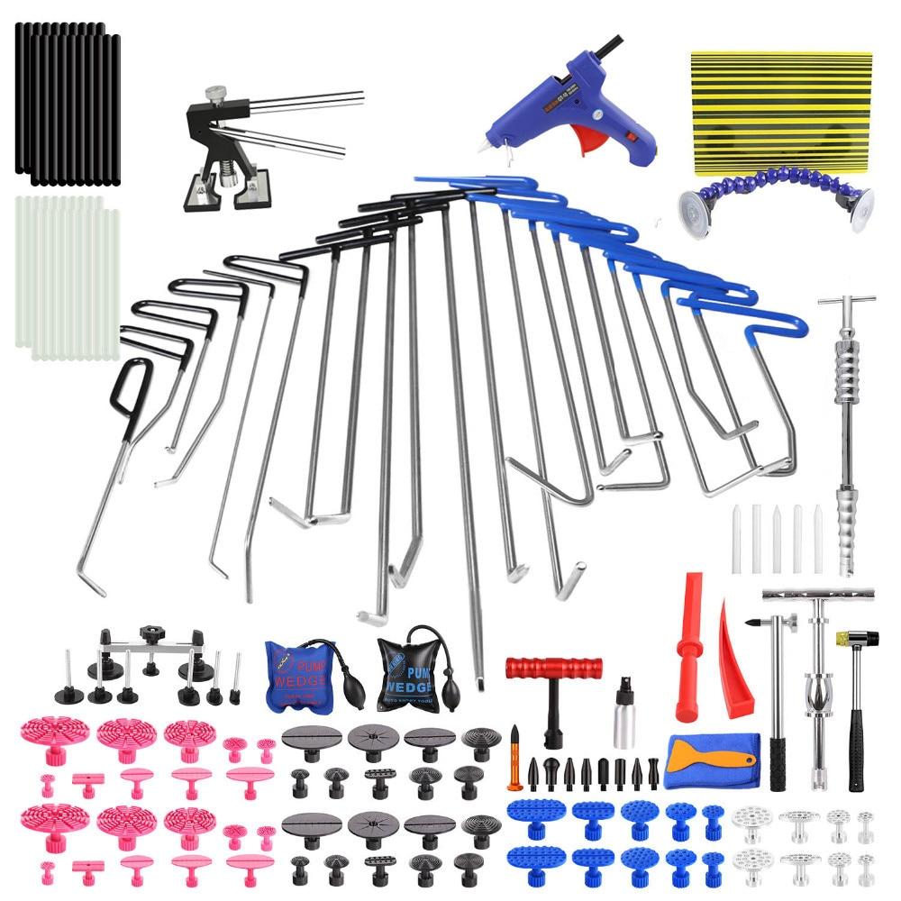 PDR Dent Removal Rods Set Hail Damage Repair Hail Hammer Kit Dent Puller Lifter