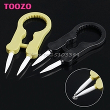 Multifunctional Steam Vaper Ceramic Insulation Head Tweezers Forceps 2 Color #G205M# Best Quality