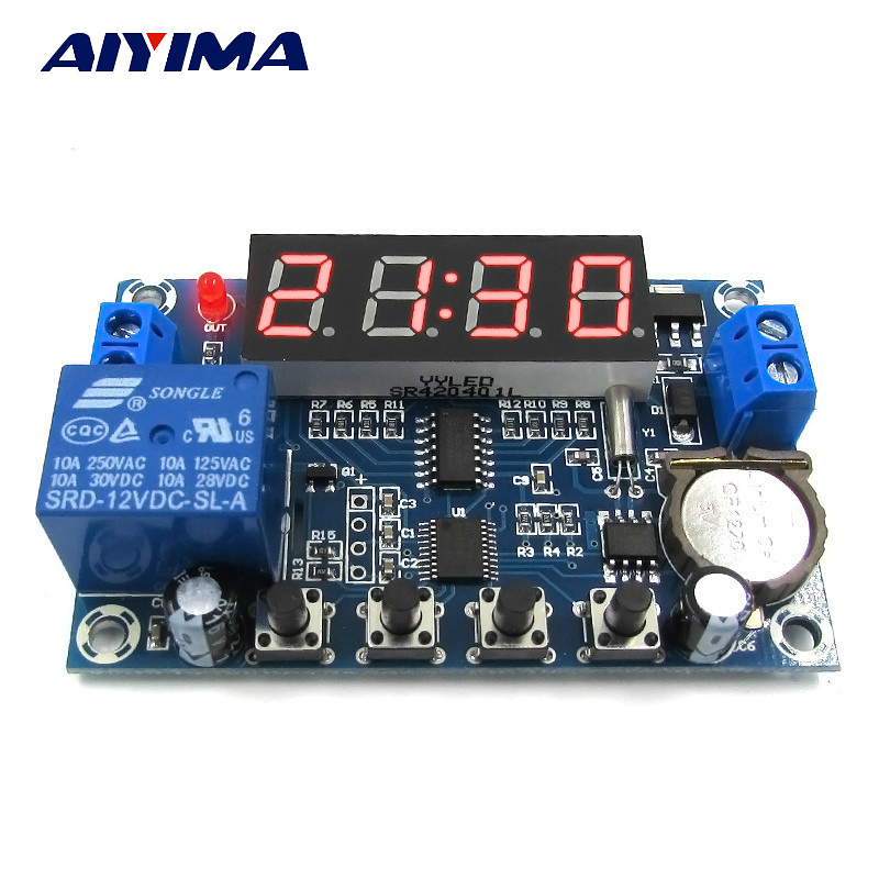 12V Clock Timer Controller  24H Timing Three Groups Time Memory Control Module dmx512 digital display 24ch dmx address controller dc5v 24v each ch max 3a 8 groups rgb controller
