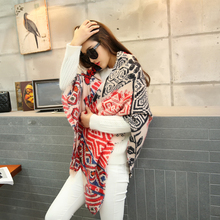 2015 Stamp za major Winter 2015 Tartan Scarf Desigual Plaid Scarf New Unisex Acrylic Basic Shawls Women's big size Scarves