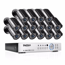 TMEZON 16CH CCTV System 16PCS 1080P Outdoor Weatherproof Security Camera 16CH 1080P DVR Night Vision  Video Surveillance System